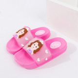 Toddlers Kids Cartoon Sofia Princess Flat Beach Slippers