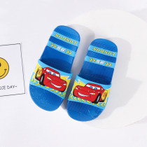 Toddlers Kids Cartoon Racing Cars Flat Beach Slippers