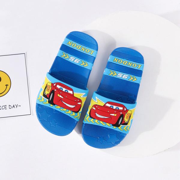 Toddlers Kids Cartoon Racing Cars Flat Beach Slippers