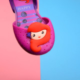Kid Toddler Girl Cartoon Mermaid Hollow-Out Jelly Flats Shoes