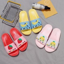 Toddlers Kids Cartoon Fruits Letters Flat Beach Slippers