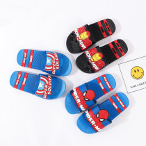 Toddlers Kids Cartoon Marvel Captain America Spiderman Flat Beach Slippers
