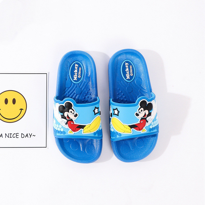 Toddlers Kids Cartoon Smile Mickey Minney Flat Beach Slippers