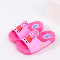 Toddlers Kids Cartoon 3D Peppa Pig Flat Beach Slippers