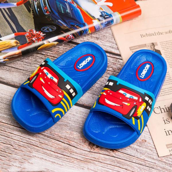 Toddlers Kids Cartoon Racing Car Flat Beach Slippers