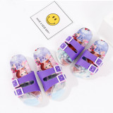 Toddlers Kids Cartoon Frozen Princess Flat Beach Slippers