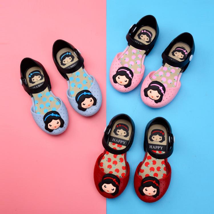 Kid Toddler Girl Cartoon 3D Cute Little Girl Jelly Flats Shoes