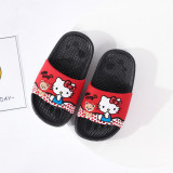 Toddlers Kids Cartoon Hello Kitty And Bear Bowknot Flat Beach Slippers