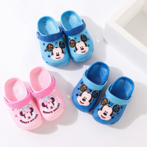 Toddlers Kids Cartoon 3D Mickey Minney Flat Beach Slippers
