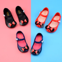 Kid Toddler Girl Cartoon Mini Dots Bowknot Jelly Flats Shoes