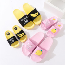 Toddlers Kids Cartoon Fruits Flat Beach Slippers