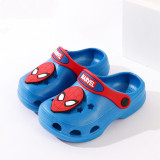 Toddlers Kids Cartoon 3D Captain America Spiderman Crocs Flat Beach Slippers