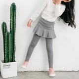 Kid Girl Culotte Lace Flower Cotton Leggings Bottoms