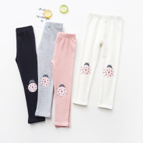 Kid Girl Print Ladybug Cotton Leggings Bottoms