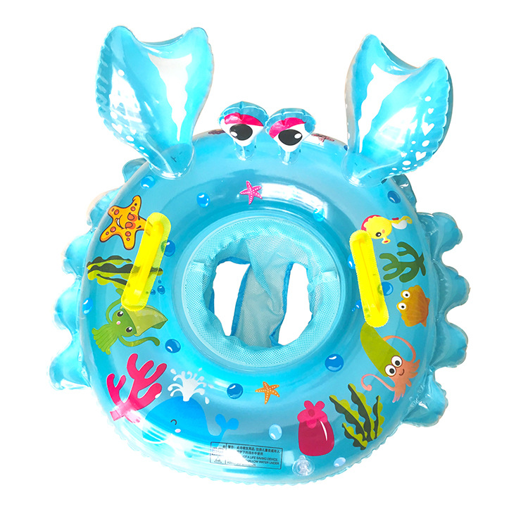 Toddler Kids Pool Floats Inflated Swimming Crab Sitting Swimming Circle