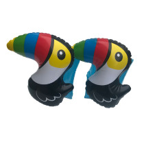 Toddler Kids Float Inflatable Black Woodpecker Arm Rings For Swimming