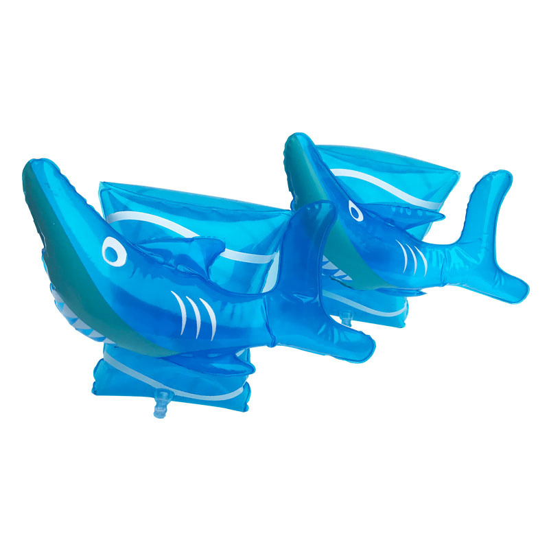 Toddler Kids Float Inflatable Blue Shark Arm Rings For Swimming