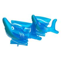 Toddler Kids Float Inflatable Blue Shark Arm Rings For Swimming