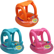 Toddler Kids Inflatable Awning Sitting Swimming Ring With Toy Balls