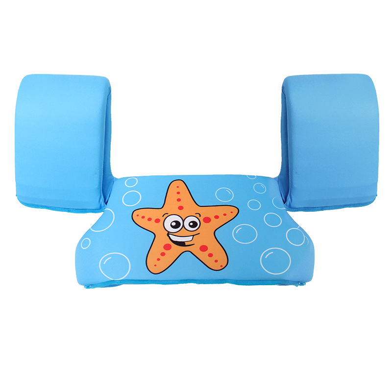 Toddler Kids Swim Vest with Arm Wings Floats Life Jacket Print Sea Star and Shell