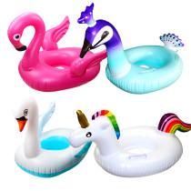 Toddler Kids Pool Floats Inflated Swimming Rings Flamingos Unicorn Swan Sitting Swimming Circle