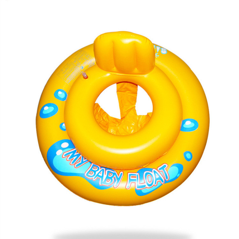 Toddler Kids Pool Floats Inflated Swimming Yellow Sitting Swimming Circle