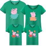 Matching Family Prints Peppa Pig Famliy T-shirts