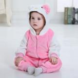 Baby Pink Hello Kitty Onesie Kigurumi Pajamas Kids Animal Costumes for Unisex Baby