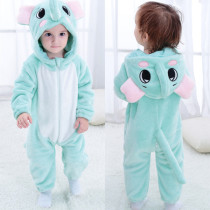 Baby Blue Elephant Onesie Kigurumi Pajamas Kids Animal Costumes for Unisex Baby