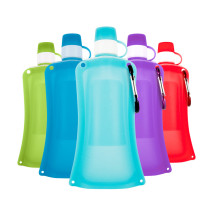 Collapsible Water Bag Free 500ML Food-Grade Silicone Portable Water Bottles