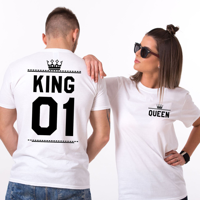 Matching Family Prints King Queen Lover's Couples T-shirts