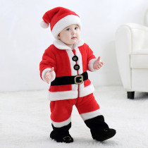 Baby Red Father Christmas Onesie Kigurumi Pajamas Kids Animal Costumes for Unisex Baby