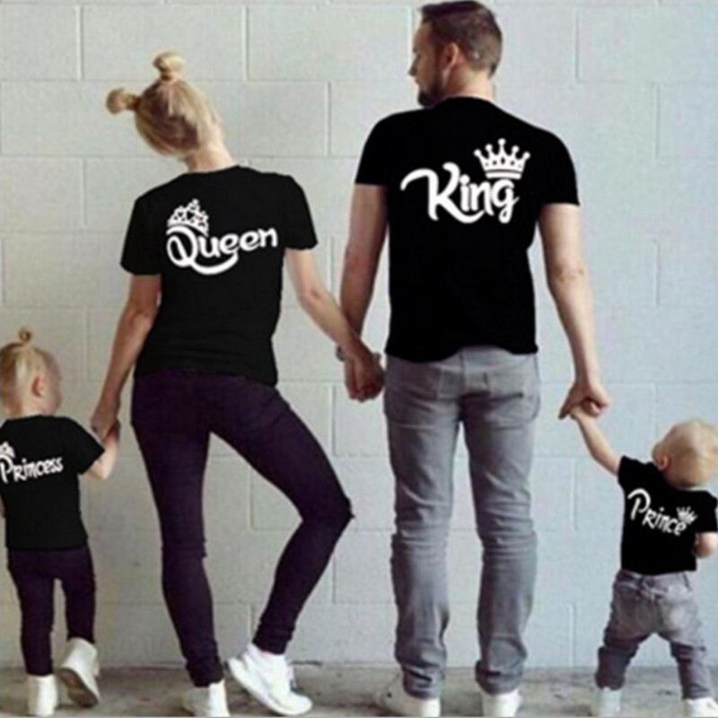 Matching Family Prints King Queen Prince Princess T-shirts