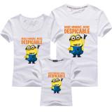 Matching Family Prints Yellow Minions Slogan T-shirts