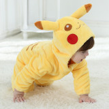 Baby Yellow Pokemon Pikachu Onesie Kigurumi Pajamas Kids Animal Costumes for Unisex Baby