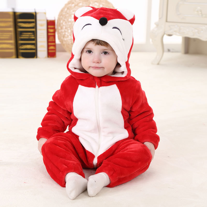 Baby Fox Onesie Kigurumi Pajamas Kids Animal Costumes for Unisex Baby