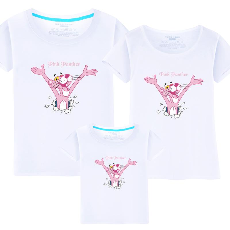 Matching Family Prints Pink Panther Slogan Famliy T-shirts