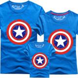 Matching Family Prints Captain America Shield Famliy T-shirts