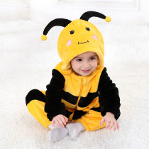 Baby Yellow Bee Onesie Kigurumi Pajamas Kids Animal Costumes for Unisex Baby