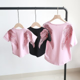 Matching Family Sequins Angel Wings T-shirts