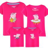 Matching Family Prints Peppa Pig Draw Redding T-shirts