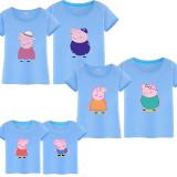 Matching Family Prints Peppa Pig Grandpa Grandma Family T-shirts