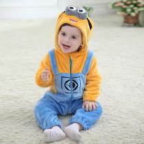 Baby Yellow Minions Onesie Kigurumi Pajamas Kids Animal Costumes for Unisex Baby