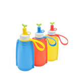 Collapsible Cute Water Bag Free 300ML Food-Grade Silicone Portable Water Bottles