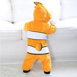 Baby Yellow Clownfish Onesie Kigurumi Pajamas Kids Animal Costumes for Unisex Baby