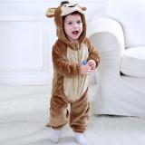 Baby Brown Monkey Onesie Kigurumi Pajamas Kids Animal Costumes for Unisex Baby