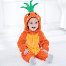 Baby Orange Carrot Onesie Kigurumi Pajamas Kids Animal Costumes for Unisex Baby