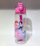 Plastic Prints Cartoons Princess 550ML Water Bottles For Toddle Kids Girl Students