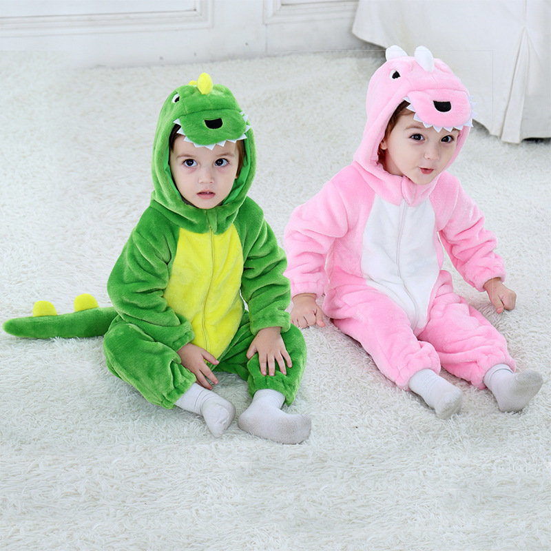 Baby Dinosaur Onesie Kigurumi Pajamas Kids Animal Costumes for Unisex Baby