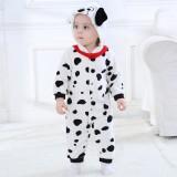 Baby White Spotty Dog Onesie Kigurumi Pajamas Kids Animal Costumes for Unisex Baby